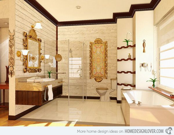 Superior 20 Luxurious And Comfortable Classic Bathroom Designs