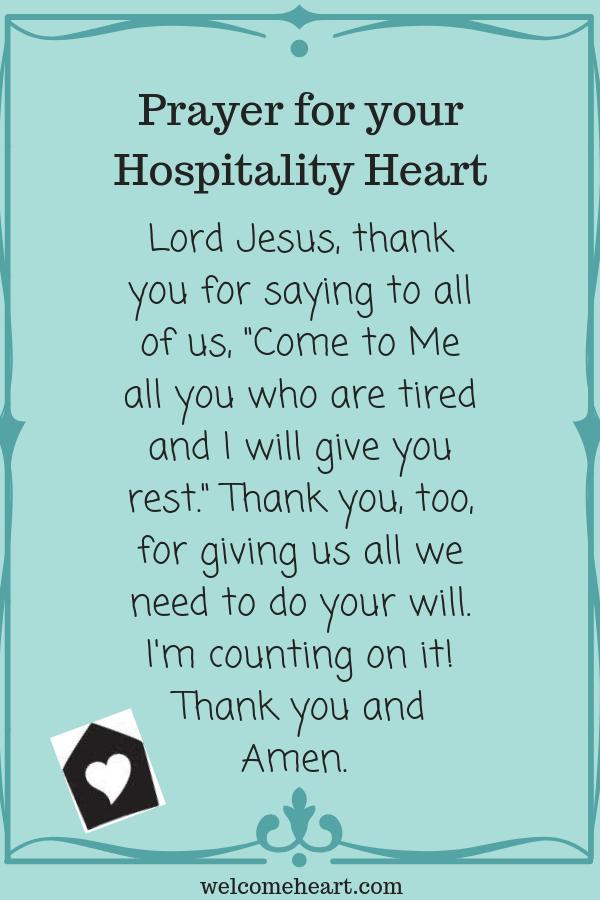 Image result for hospitality prayer