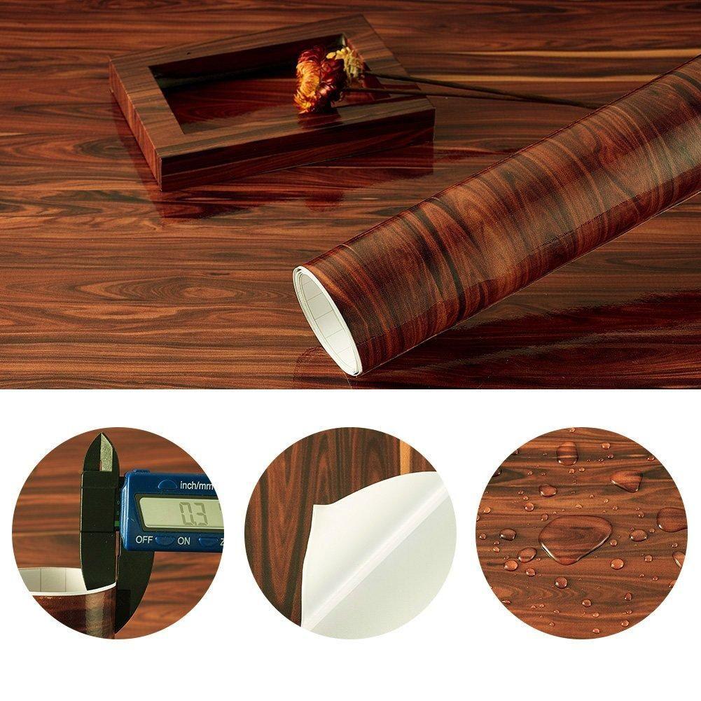 Wood Panel Pattern Contact Paper Self Adhesive Removable Wallpaper 10cmx30cm Removable Wallpaper Wood Paneling Wood