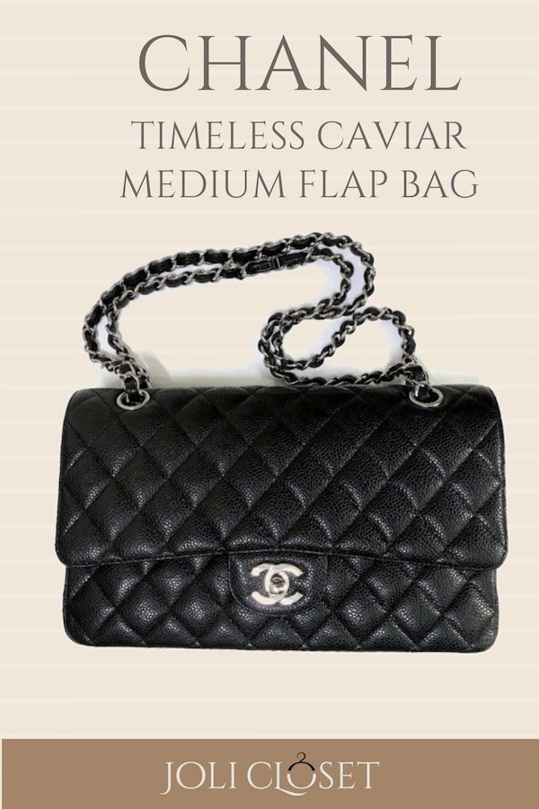 705859e480f9 Look timeless when you flaunt the Chanel Timeless Caviar, a medium sized flap  bag that fits all your essentials in style.