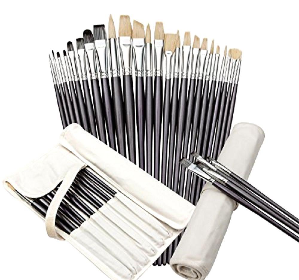 Artist paint brush set with free storage holder by keyp
