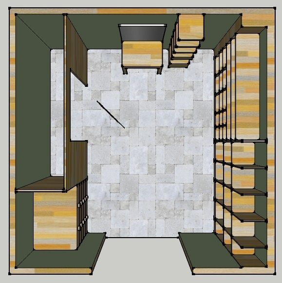 10 X 10 Personal Closet Design Planview
