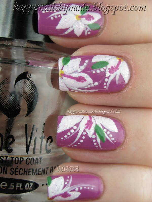 Happy Nails: Nail Art, Exotic Flowers | Floral Nail Designs ...