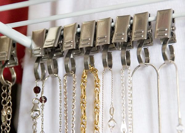 Ikea Shower Curtain Clips As Necklace Hangers Organization
