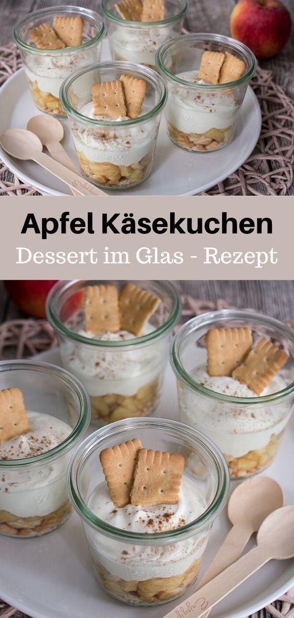 Apfel Käsekuchen Dessert im Glas Rezept - MakeItSweet.de