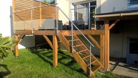 garde corps pour terrasse en bois issu des bateaux projet commun des castors installer une. Black Bedroom Furniture Sets. Home Design Ideas