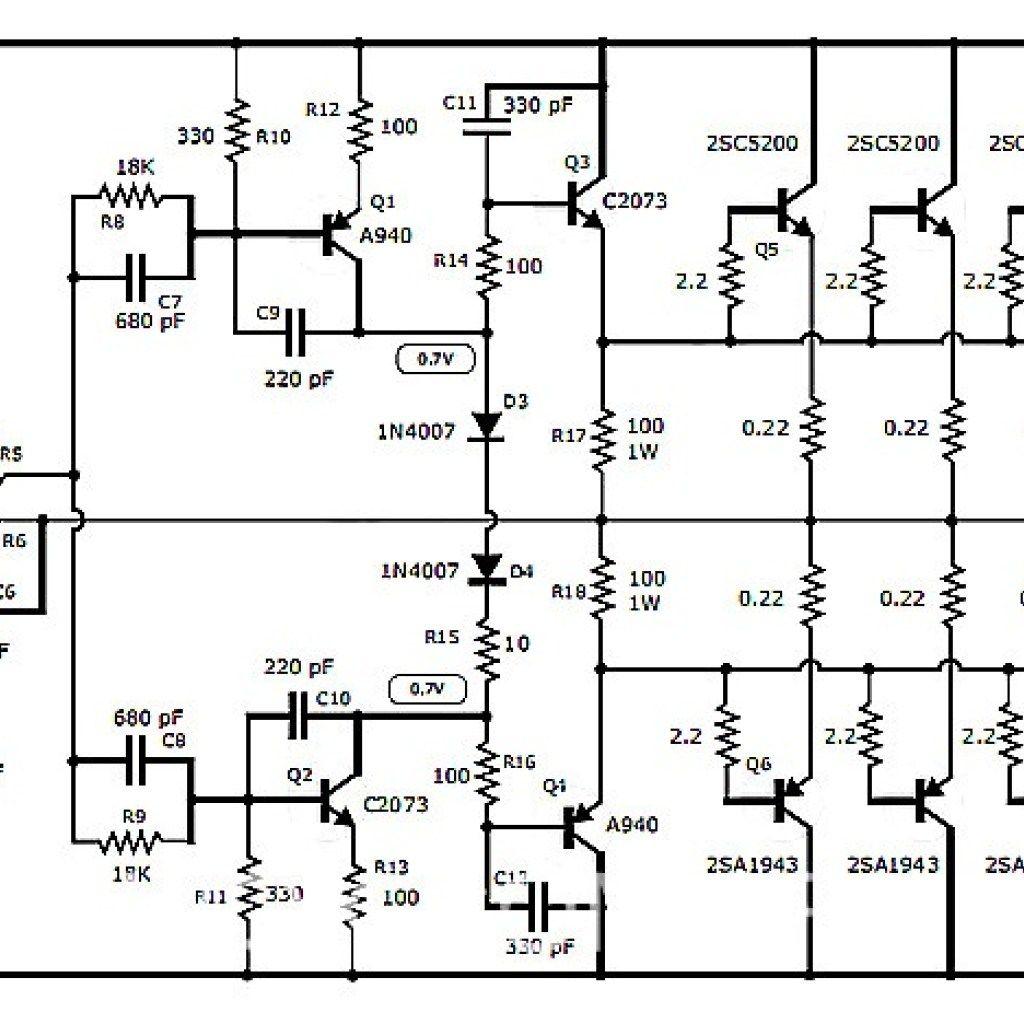 2sc5200 amplifier circuit diagrams