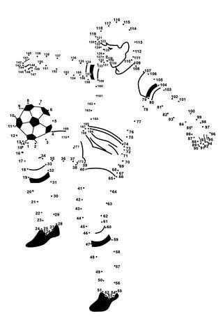 Soccer Player Dot to dot | klasse 2 | Pinterest | Jornada, Fútbol y ...