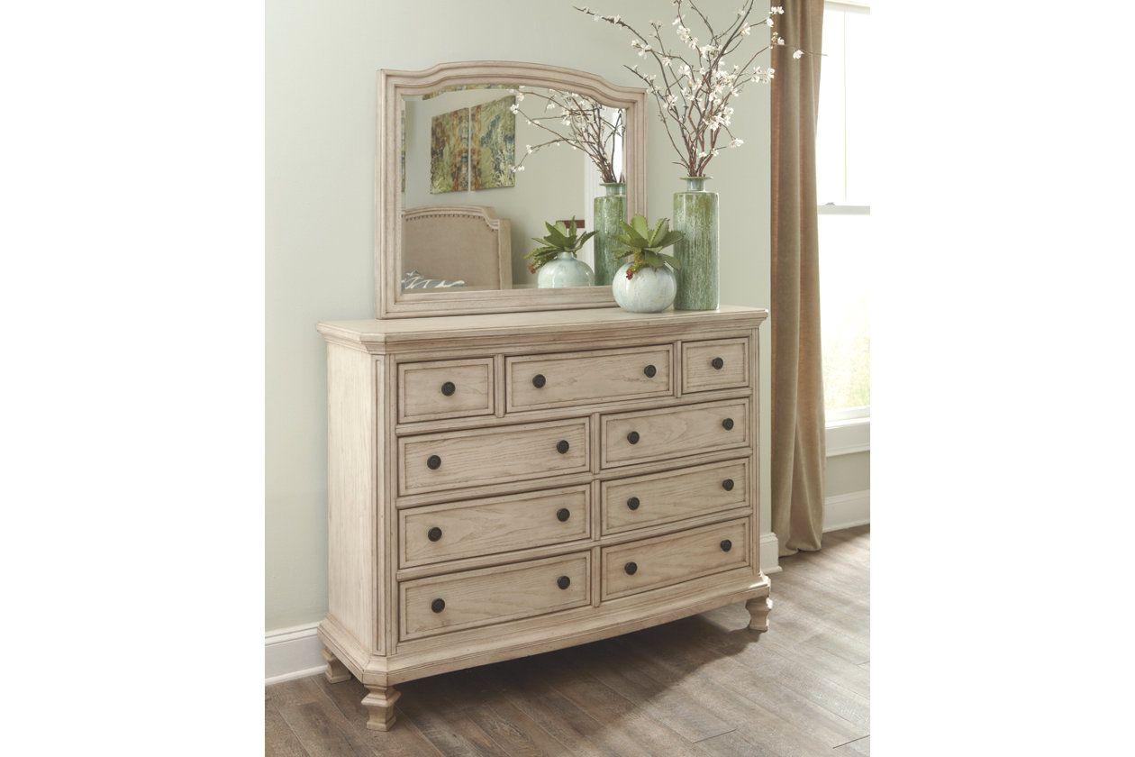 Demarlos Dresser And Mirror White Bedroom Furniture Dresser