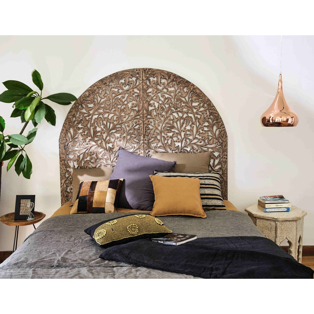t te de lit 140 en bois sculpt maisons du monde ma chambre cosy parfaite love cocoon. Black Bedroom Furniture Sets. Home Design Ideas