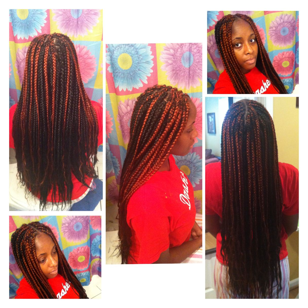 Layered Braids Hairstyles Box Braids With Color Protectivestyle Twists Braids