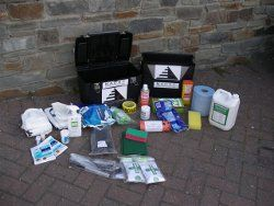 Crime scene cleaning equipment, the right chemicals for a