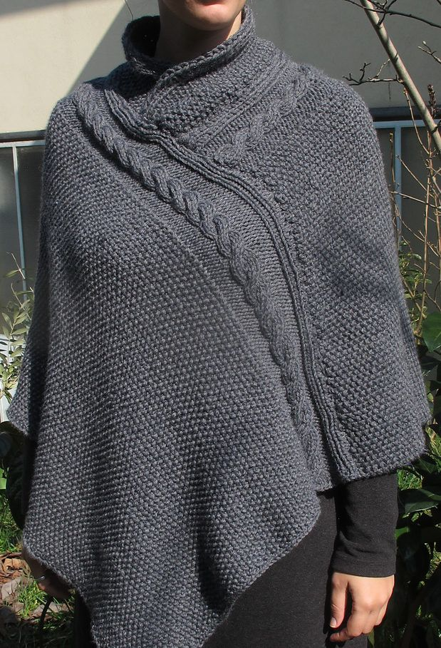 Free Knitting Pattern for Alexis Poncho - Quick poncho knit in 2 ...