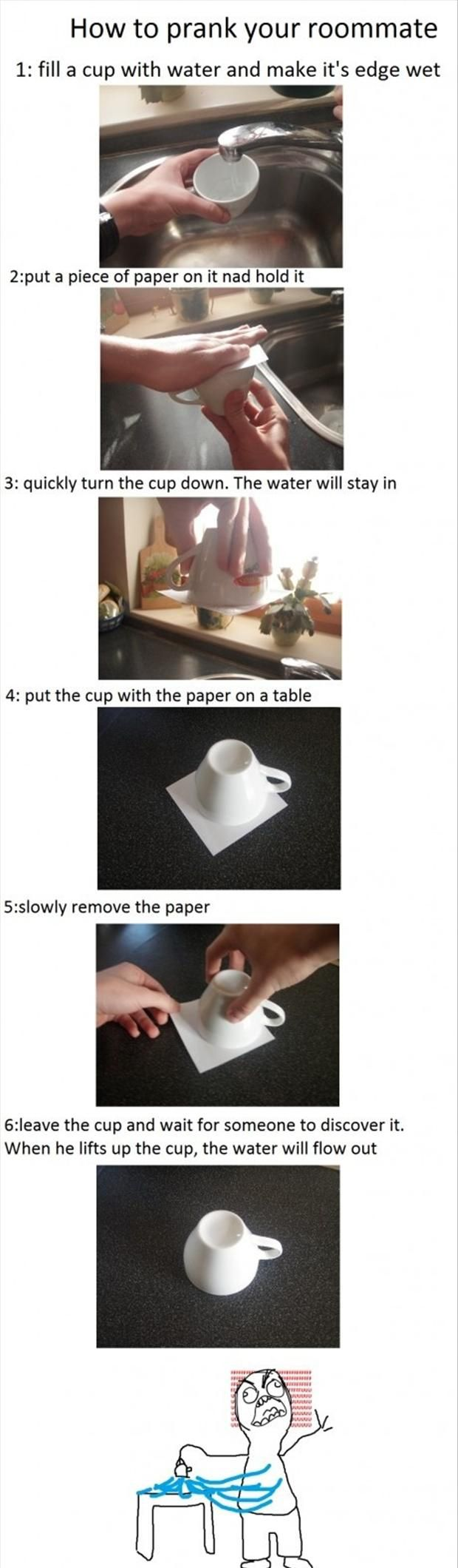 not sure if i could do this to my roommate but to the girls kitchen sure the funny college pranks thats awesome ive been needing an idea for a