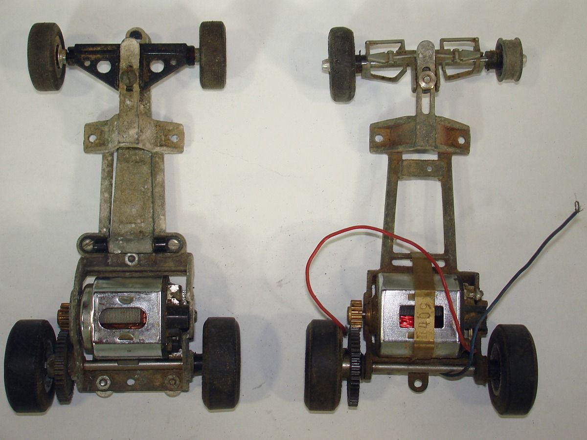 Cox Slot Car Racing Magnesium Chassis Mabuchi 36d Made In Japan