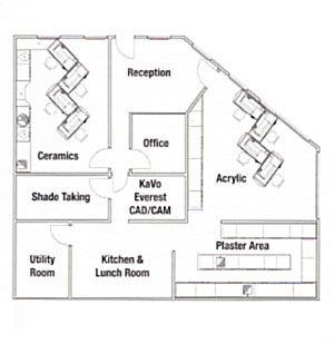 Ancona floor palliative care pinterest for Dental lab design layout