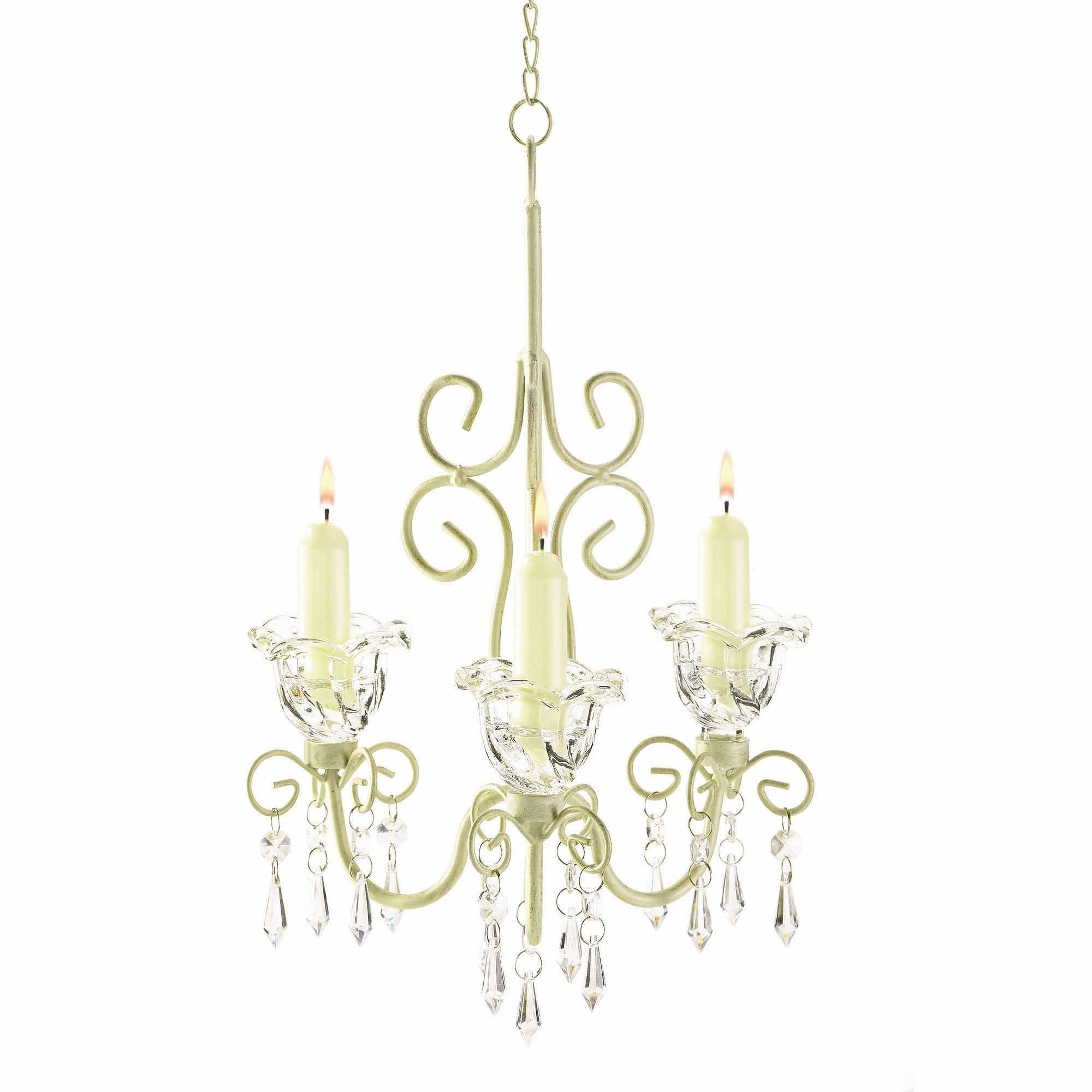 Zingz & Thingz Iron and Acrylic Rococo Crystal Chandelier $18