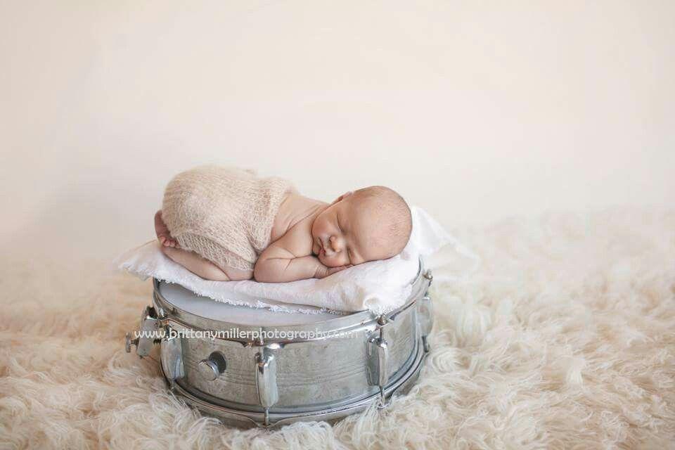 Drummer boy newborn photography. #brittanymillerphotography @brittanymillerphotography