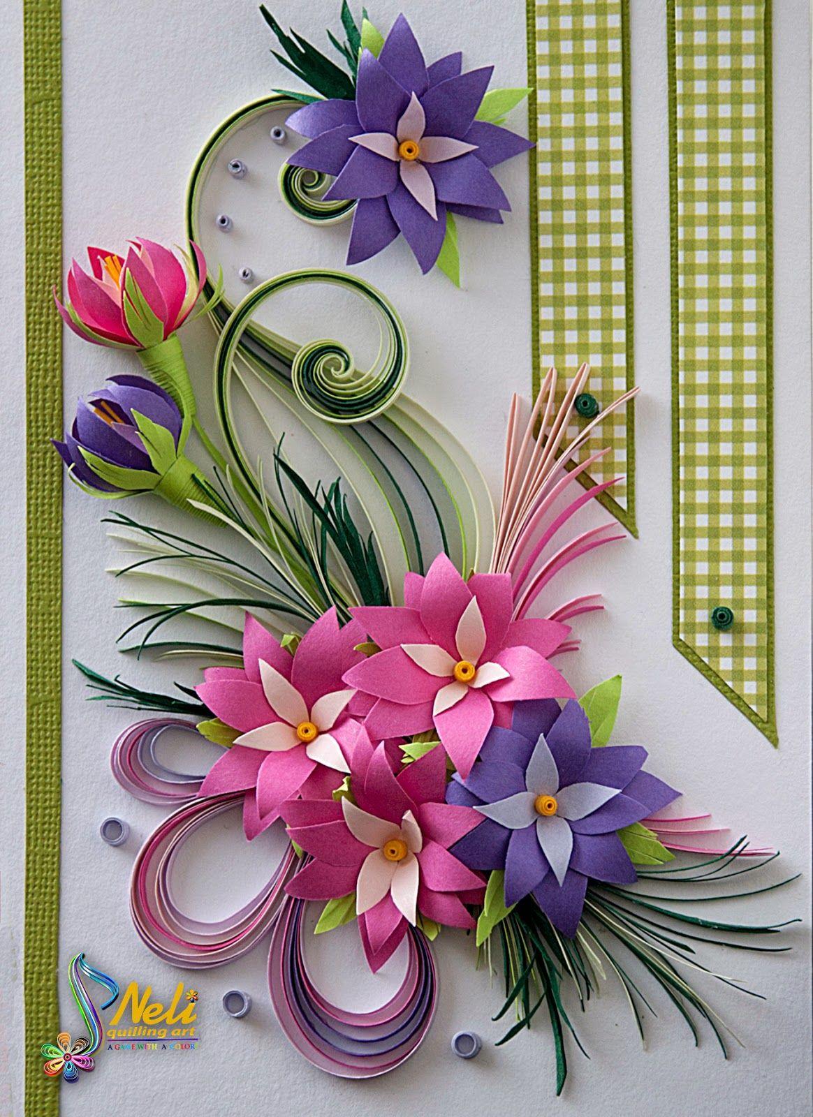 Работу завтра, поделка из открыток с цветами
