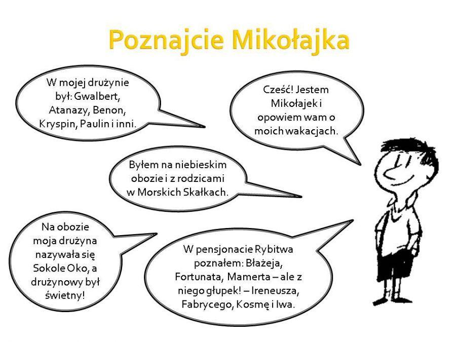 Znalezione Obrazy Dla Zapytania Mikołajek Karty Pracy Lektury