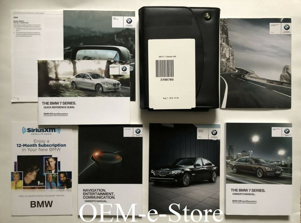 2013 Bmw 7 Series 740li 750i 750li 760li Owners Manual Navigation User Books Set Bmw 7 Series Bmw New Bmw