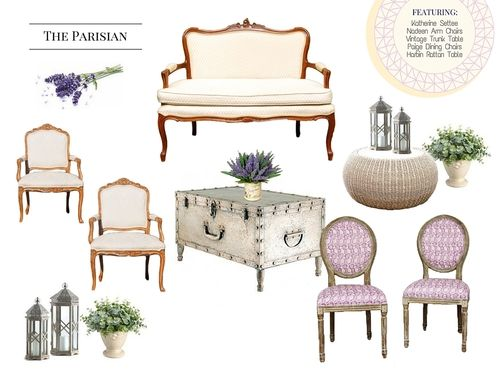 The Parisian Lounge   The French Eclectic Vintage + Specialty Rentals |  Charleston, SC