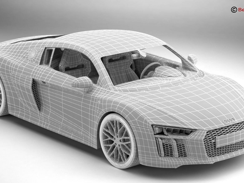 Audi R8 V10 2016 3d Model 3ds Max Fbx C4d Lwo Lws Lw Ma Mb Obj