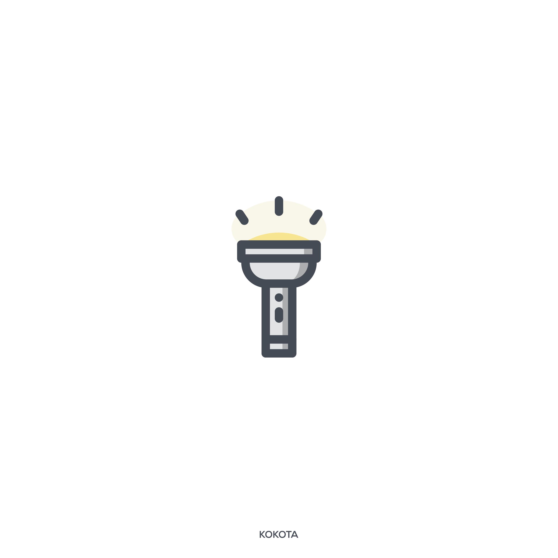 Hiking Camping Flashlight Idea Lamp Light Travel Icon Download On Iconfinder Camping Flashlights Flashlight Camping Lights