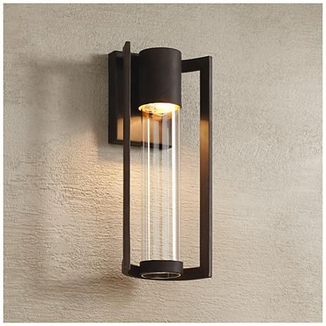 "Exterior Wall Lights Brilliant Maxfield Bronze 15"" High Led Outdoor Wall Light  Led Outdoor Wall Decorating Inspiration"