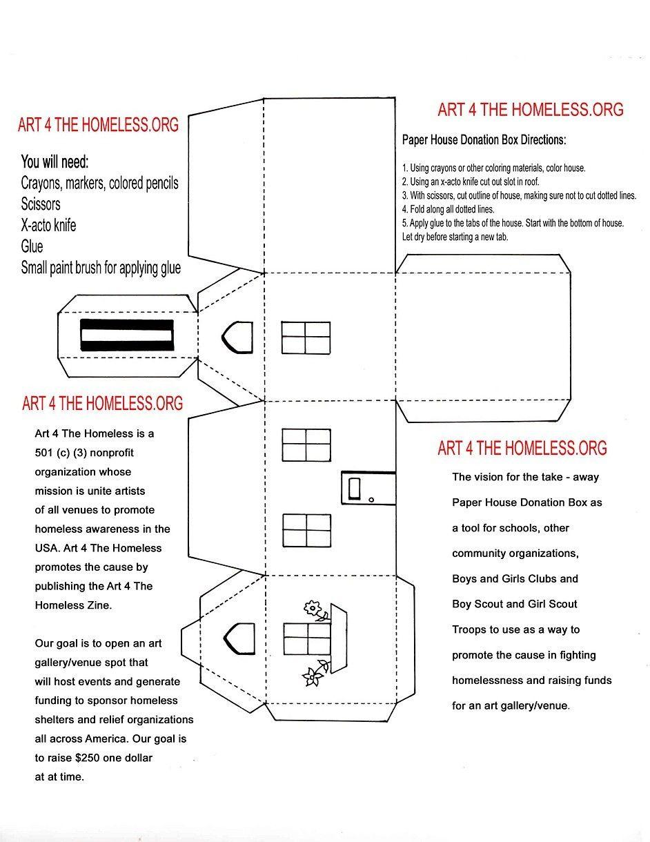 Znalezione obrazy dla zapytania paper house template | papierowe ...