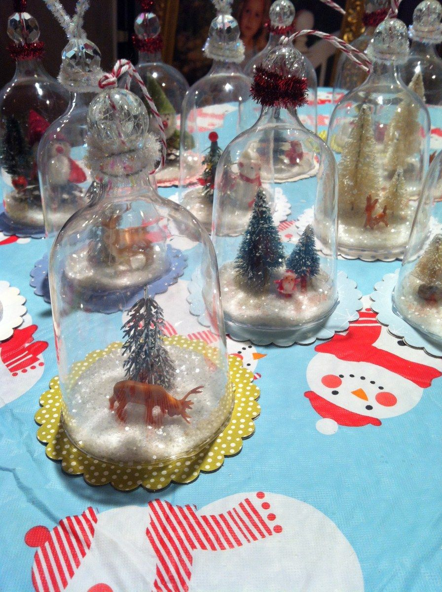 DIY Vintage Inspired Bell Jar Ornaments. From plastic wine glasses. www.mysocalledcraftylife.com ...