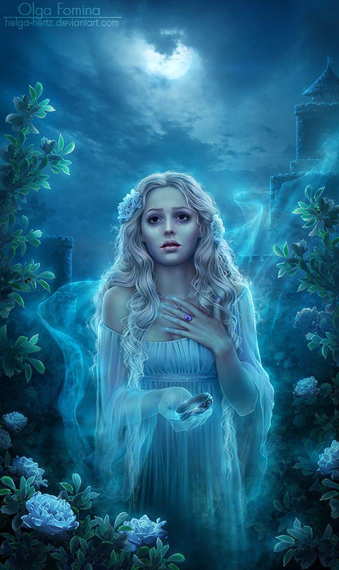 красивые рисунки призраков что зародилась она