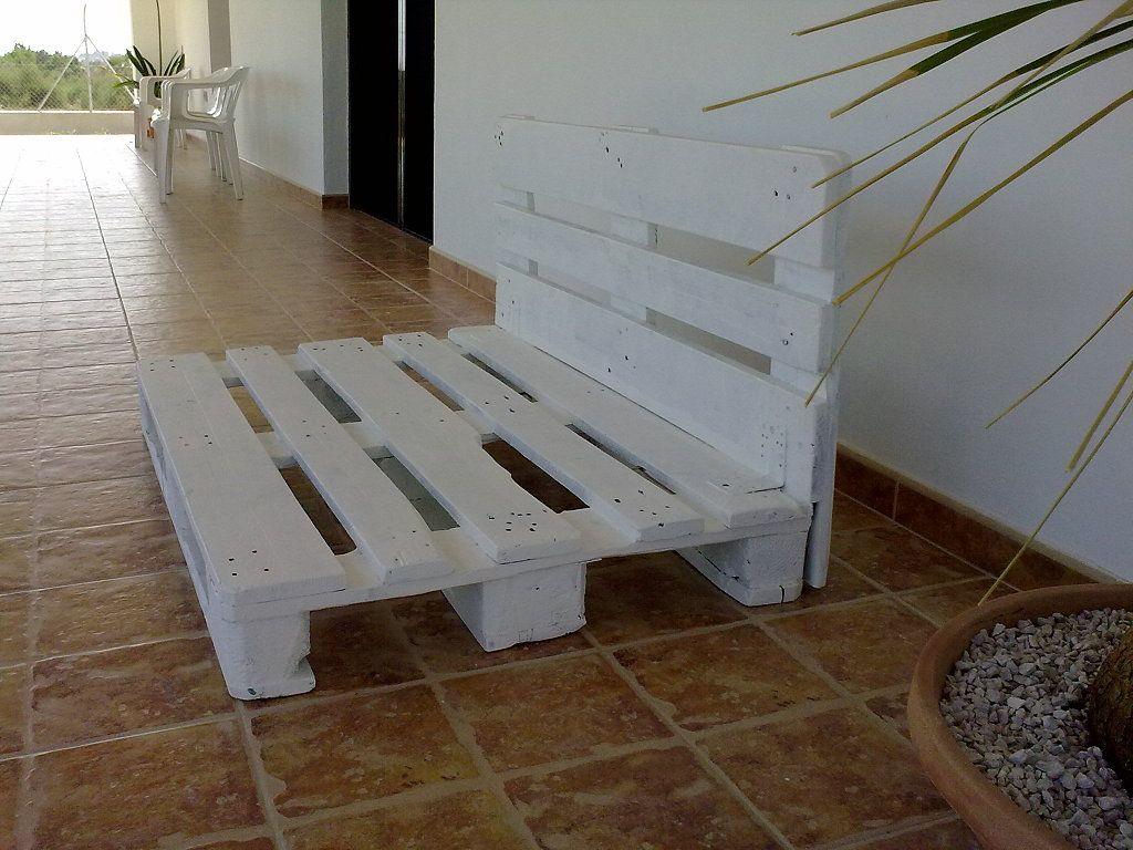 Paso a paso de muebles de porche con pales pinterest for Muebles porche