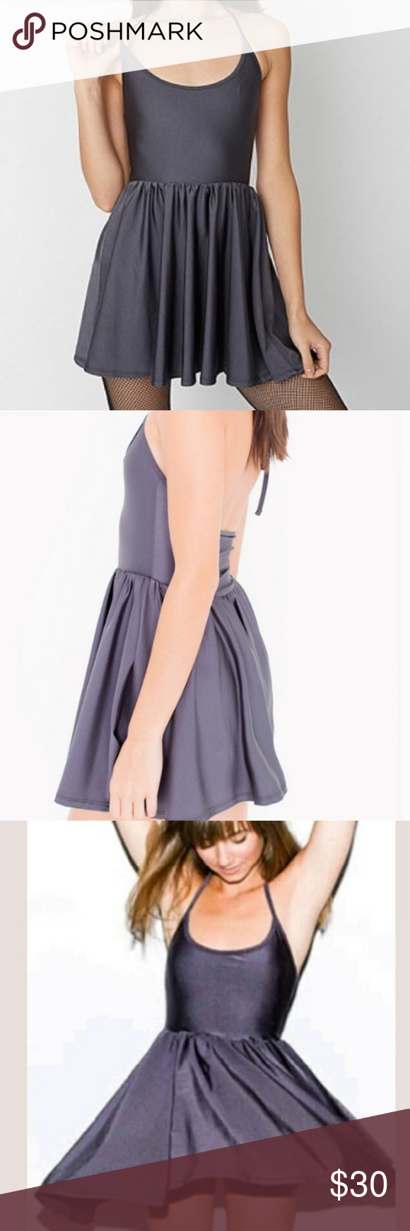 36d39cf913 American Apparel Figure Skater Dress (Dark Gray) Like new - American Apparel  Nylon Figure
