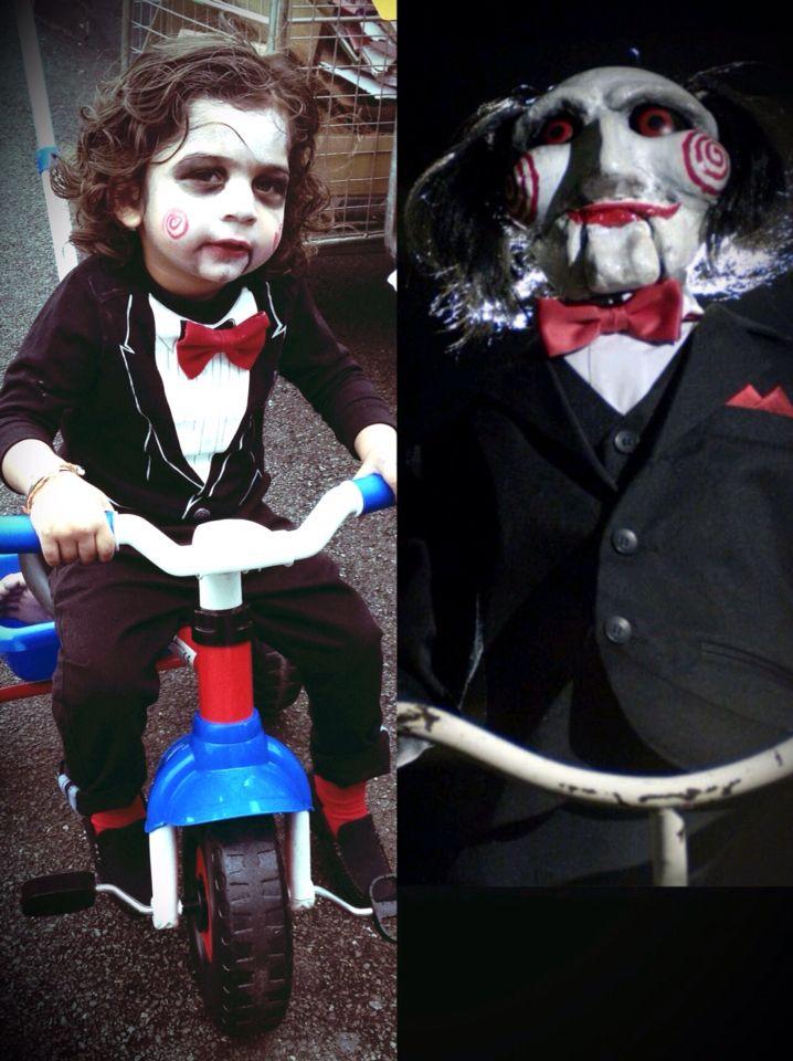 Halloween costume.#jigsaw #toddler #costume #dressup #saw film #halloween