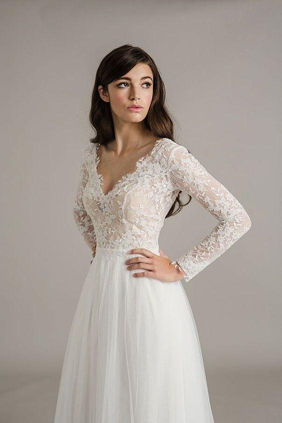 Long sleeve lace wedding dress   Vestido Cexi   Pinterest   Lace ...
