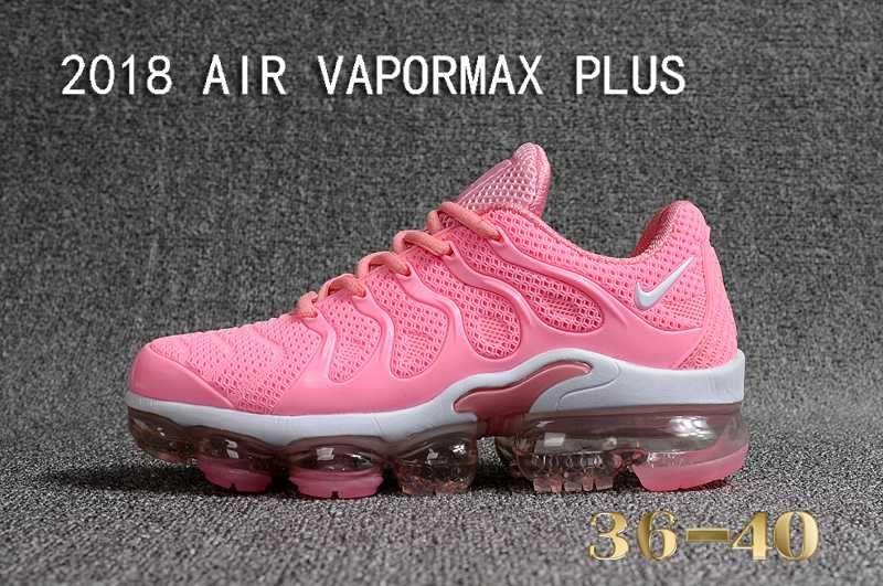 4fa18386720b Nike Air Max Tn Vapormax Plus 2018 Pink White Women Shoes
