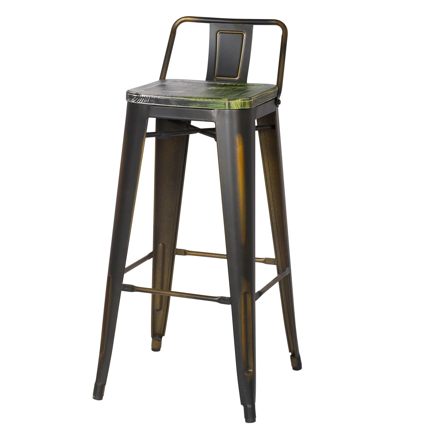 Coupling The Tall Height Of A Counter Stool With The Comfort And Practicality Of A Dining Chair This Delightful Pair Metal C Metal Bar Stools Bar Stools Stool