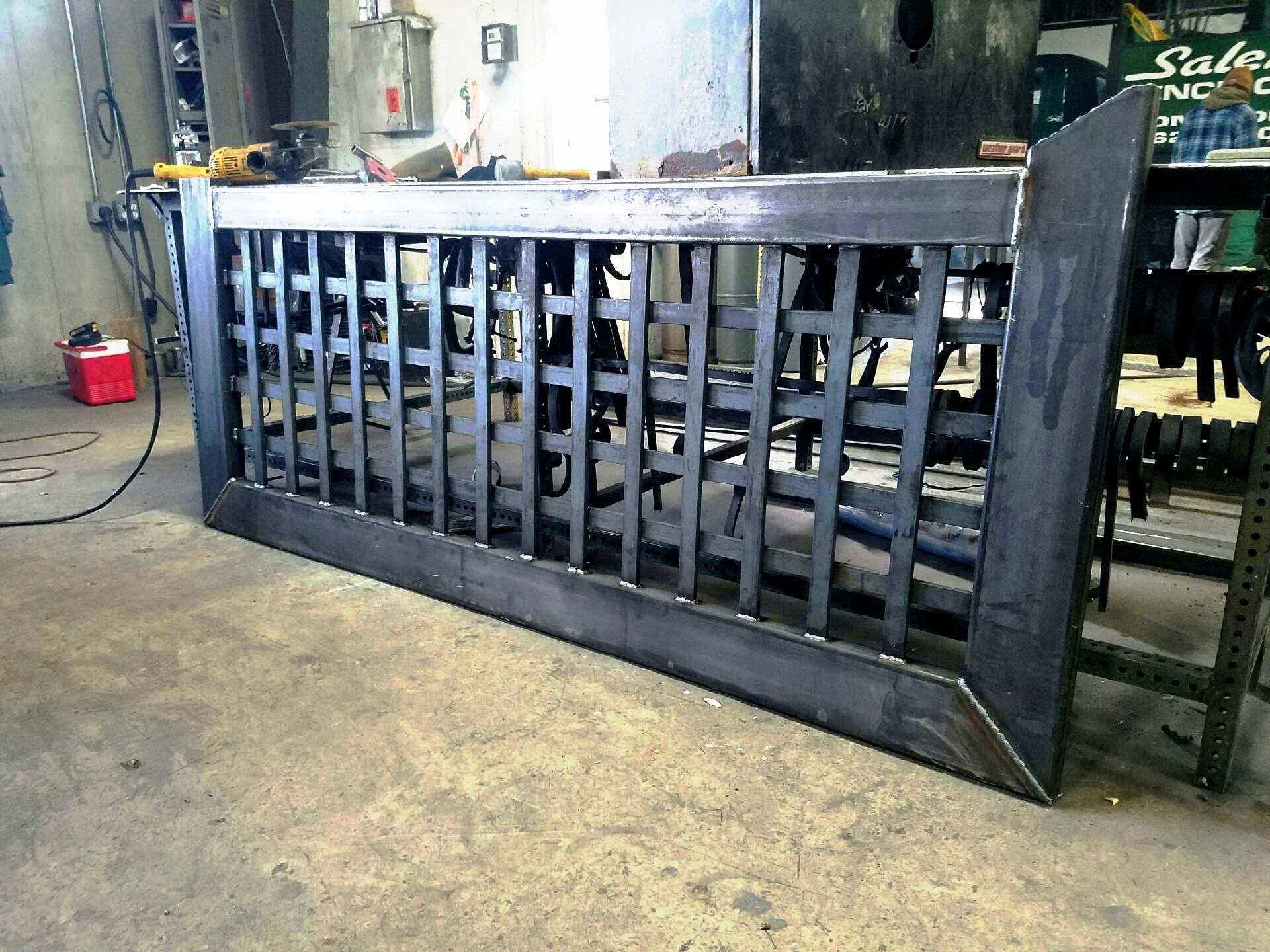 Automated Wrought Iron Lattice Gate Fabrication With Images