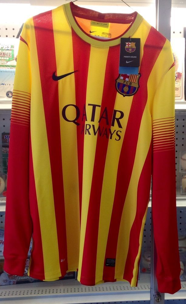 479de5dc2 Nike Football Club Barcelona Long Sleeve Soccer Jersey NWT Large World Cup   Nike