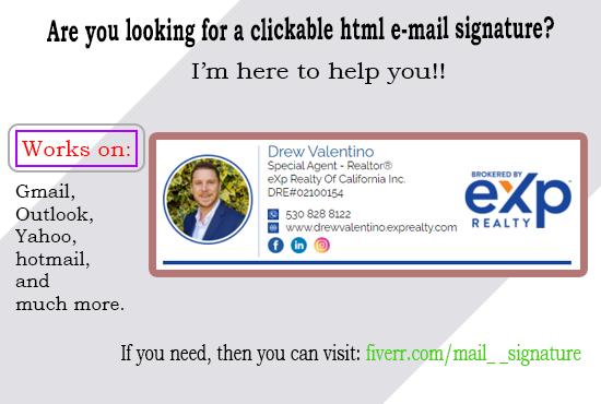 Mail Signature I Will Do Unique Clickable Html Signature Gmail Outlook Signature For 5 On Fiverr Com Html Email Signature Email Signature Design Mail Signature