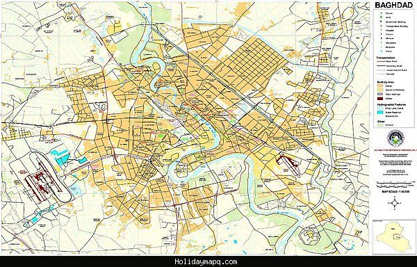 cool Baghdad Map Tourist Attractions | Holidaymapq | Pinterest ...