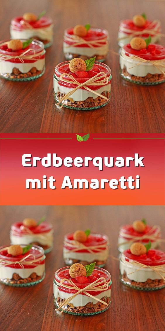 Erdbeerquark mit Amaretti