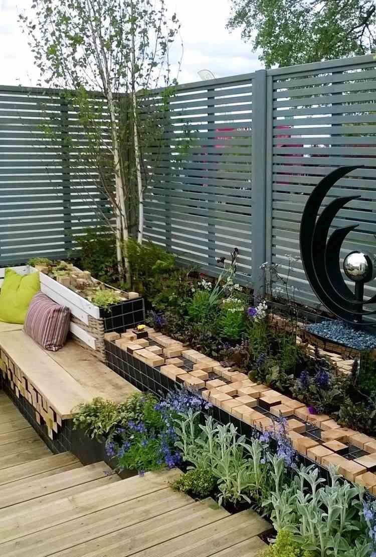 Brise Vue Terrasse Bois clôture jardin en bois,pvc ou bois composite-laquelle