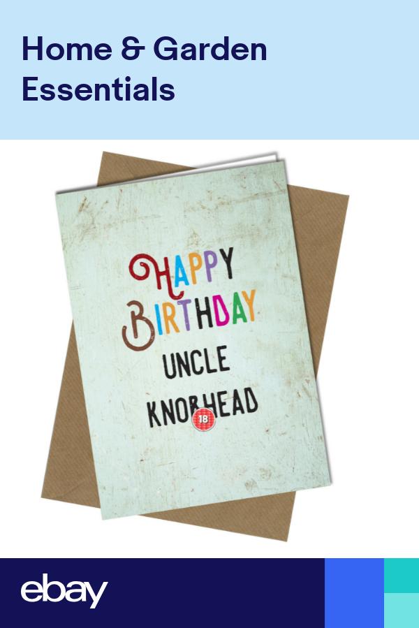 BIRTHDAY CARD UNCLE AUNTIE KNO*HEAD GREETING CARD Rude Funny Happy Joke