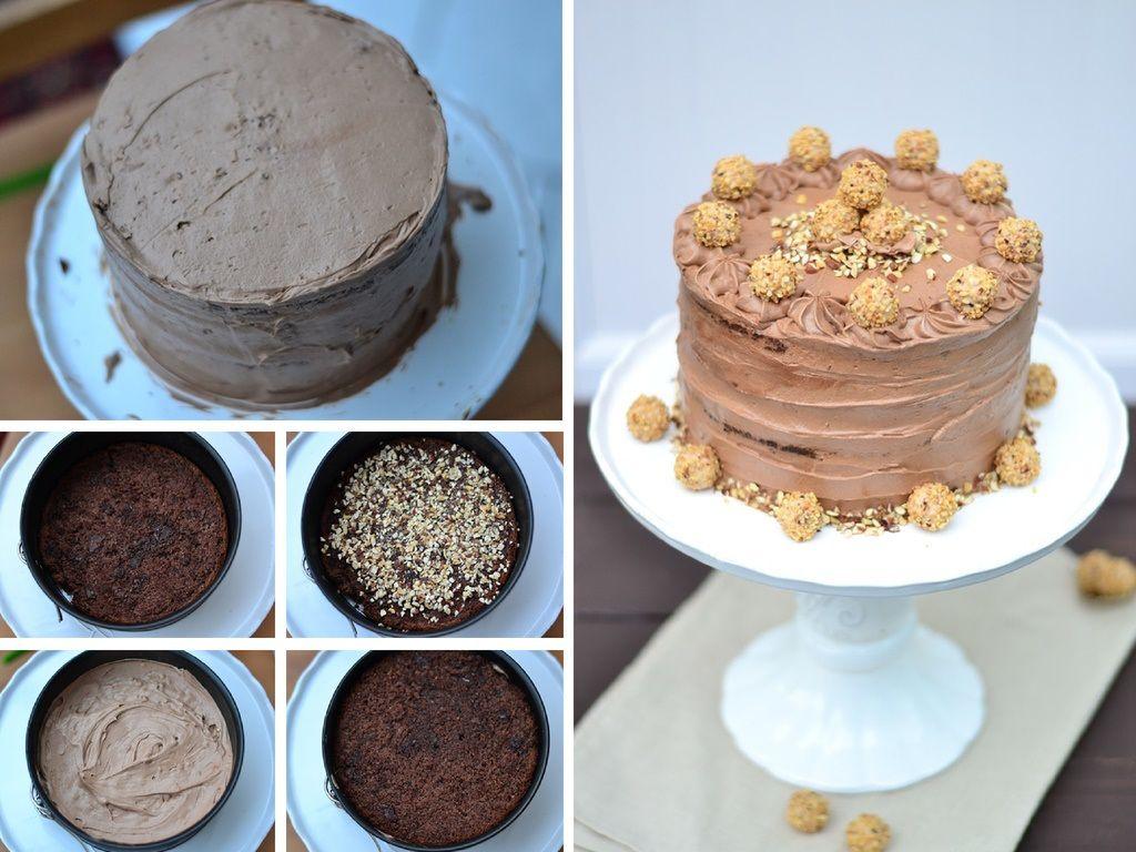 Für Chocoholics: Nougat-Giotto-Torte   Das Knusperstübchen