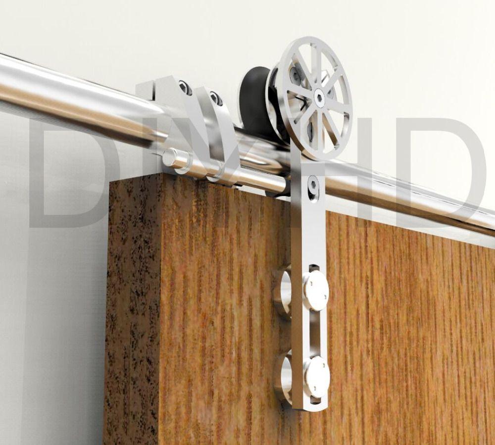 Diyhd 5ft 13ft Stainless Steel Sliding Barn Wood Door Hardware
