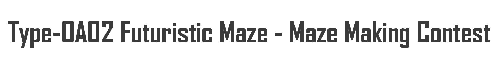 Type-OA02 Futuristic Maze - Maze Making Contest Minecraft Map