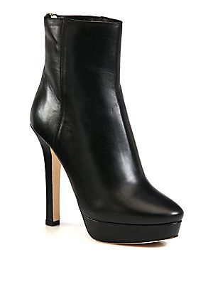 25136e8b3256 Jimmy Choo Magic Leather Platform Ankle Boots | New Shoes in 2019 ...