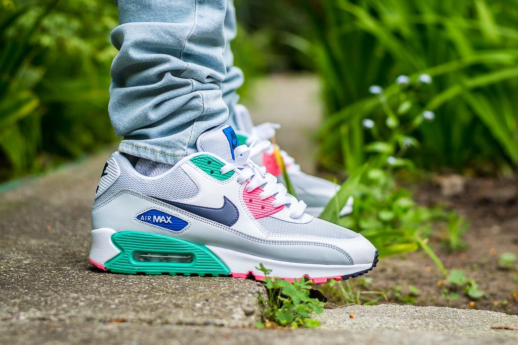 premium selection 7d365 434e8 See how the Nike Air Max 90 Essential Watermelon looks on feet in this  video review before you cop! Find out where to buy these Nike Air Max 90s  online!